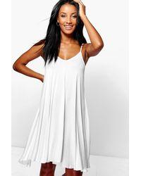 Boohoo White Dahlia Swing Dress