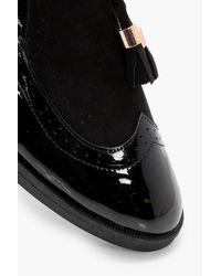 Boohoo Black Faith Tassel Slipper Flat
