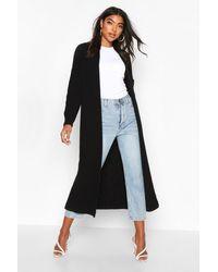 Boohoo Black Tall Soft Knit Maxi Cardigan