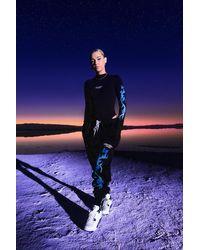 Butterfly Lightening Print Bodysuit & Jogger Set Boohoo de color Black