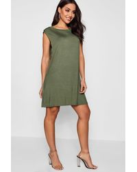 Boohoo Gray Drop Armhole T-shirt Dress