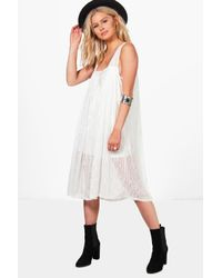 Boohoo | White Adrienne Strappy Dress | Lyst