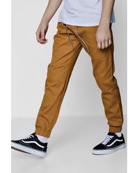 Boohoo Multicolor Slim Fit Woven Jogger With Contrast Drawcord for men