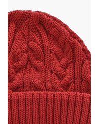Boohoo Red Cable Docker Hat
