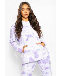 Boohoo Purple Tie Dye Oversize Hoody