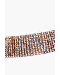 Boohoo - Metallic Strassbesetztes Kropfband Mit Langem Kettchen - Lyst
