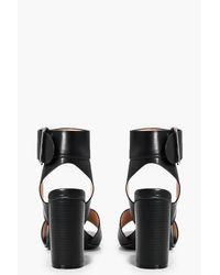 Boohoo Black Abbie D Ring Block Heel Wide Fit Sandals
