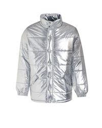 Boohoo Tyga Metallic Padded Coat for men