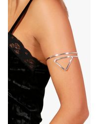 Boohoo | Metallic Triangle Arm Cuff | Lyst