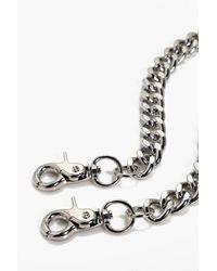 Boohoo | Metallic Kate Chunky Curb Jean Key Chain | Lyst