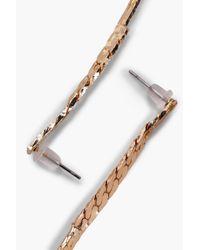 Boohoo | Metallic Natalie Extra Long Chain Drop Earrings | Lyst