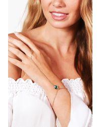 Boohoo | Green Jessica Stone Detail Hand Harness | Lyst