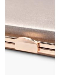 Boohoo Lexi Metallic Framed Box Clutch Bag