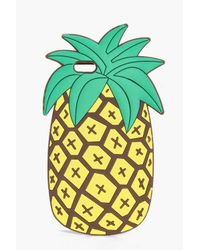 Boohoo | Yellow Pineapple Novelty Rubber Iphone 6 Case | Lyst