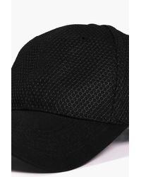 Boohoo Black Robyn Mesh Baseball Cap for men
