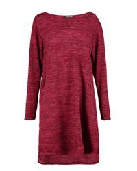 Boohoo Red Elizabeth Knitted Dress