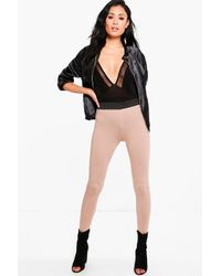 Boohoo - Multicolor Evah Basic Contrast Waist Band Jersey Leggings - Lyst