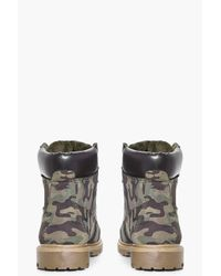 Boohoo Multicolor Orla Camo Shearling Lined Hiker Boot for men