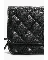 Boohoo | Black Darcey Quilted Chain Strap Cross Body Bag | Lyst