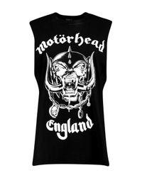 Boohoo Black Molly Motorhead Oversized Raw Drop Arm Band Vest