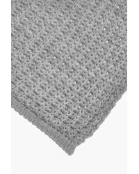 Boohoo - Gray Alice Open Rib Knit Oversize Scarf - Lyst