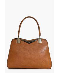 Boohoo Multicolor Sophie Metal Detail Day Bag