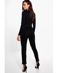 Boohoo - Blue Holly Belted Jumpsuit - Lyst