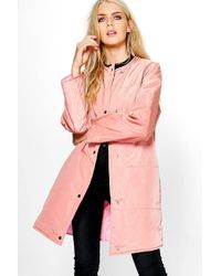 Boohoo Pink Abigail Quilted Jacket