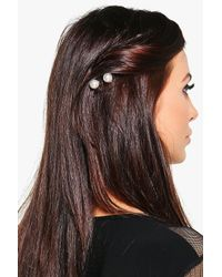 Boohoo - Metallic Aimee Pearl Hair Spirals Multipack - Lyst