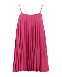 Boohoo Multicolor Lucy Strappy Pleated Swing Dress