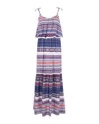 Boohoo Blue Caitriona Trim Detail Printed Maxi Dress