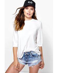 Boohoo Multicolor Niamh Textured Fabric Premium T-shirt