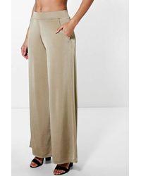 Boohoo - Black Matilda Pocket Side Wide Leg Trousers - Lyst