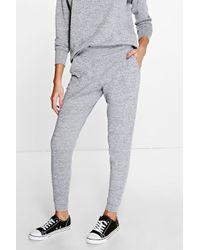 Boohoo Metallic Keira Melange Trouser & Top Knitted Loungewear Set
