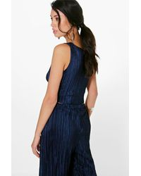 Boohoo - Black Rosie Embroidered Lace Up Cami - Lyst