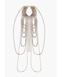 Boohoo - Blue Anya Diamante Statement Body Chain - Lyst