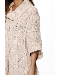 Boohoo Green Grace Cable Roll Neck Chunky Knit