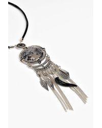 Boohoo - Metallic Faye Tassel Pendant Necklace - Lyst