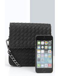 Boohoo - Black Evelyn Weave Cross Body Bag - Lyst