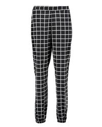 Boohoo | Black Holly Grid Check Woven Joggers | Lyst