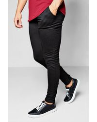 Boohoo Skinny Fit Jogger With Black Zips for men