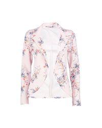 Boohoo Multicolor Francesca Oriental Floral Blazer