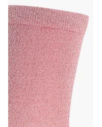 Boohoo | Pink Josie Lurex Ankle Socks | Lyst