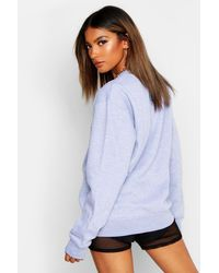 Boohoo Gray Oversized Crew Neck Sweat