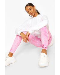 Boohoo Pink Pastel Tie Dye Leggings