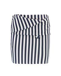 Boohoo Multicolor Ivy Waist Detail Stripe Mini Skirt