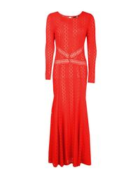 Boohoo - Orange Boutique Lace Open Back Maxi Dress - Lyst