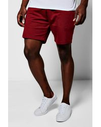 Boohoo - Red Jersey Shorts for Men - Lyst