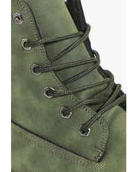 Boohoo - Green Worker Boots for Men - Lyst