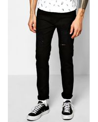 Boohoo | Black Stretch Skinny Fit Ripped Jeans for Men | Lyst